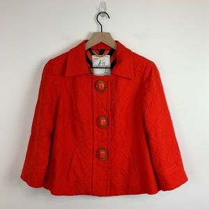 Milly of New York | Red textured Coat size 6